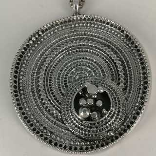 Jorma Laine Finland modernist sombrero pendant with necklace