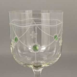 6 art nouveau stem glasses from 1905