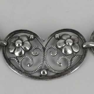 Rare Art Nouveau necklace in silver from WMF around 1910