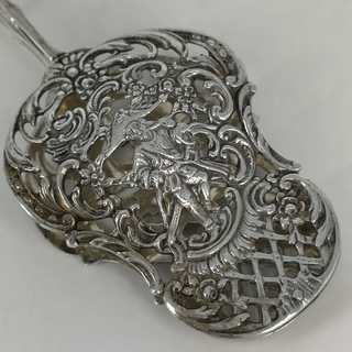 Beautiful openwork pastry tongs from the Art Nouveau period