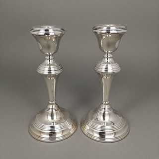 Candlesticks pair from 1997 in sterling silver 925 / -