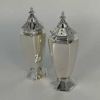 4-piece spice set in sterling silver from England 1908