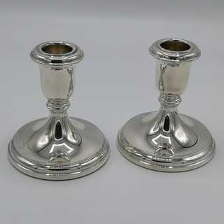 Vintage silver candlesticks pair R. Carr Ltd. Sheffield / England
