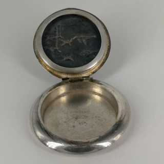 Enchanting pill box in solid silver