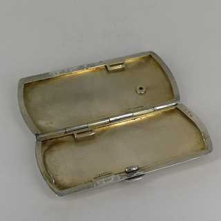 Small cigarette case in silver for a womans handbag