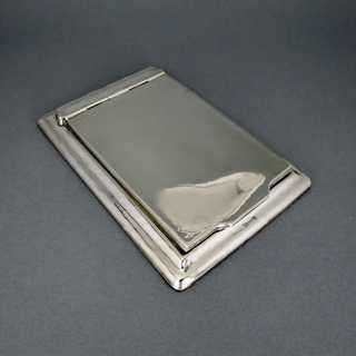 Antique silver notepad holder
