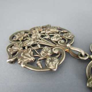 Romantic belt buckle, gold plated bronze